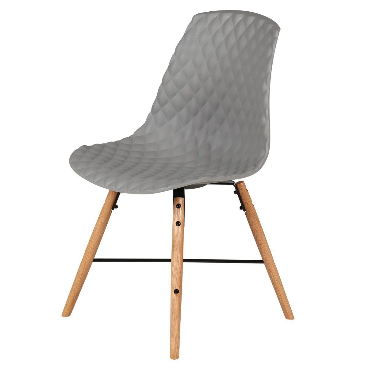 Chaise à coque effet matelassé
