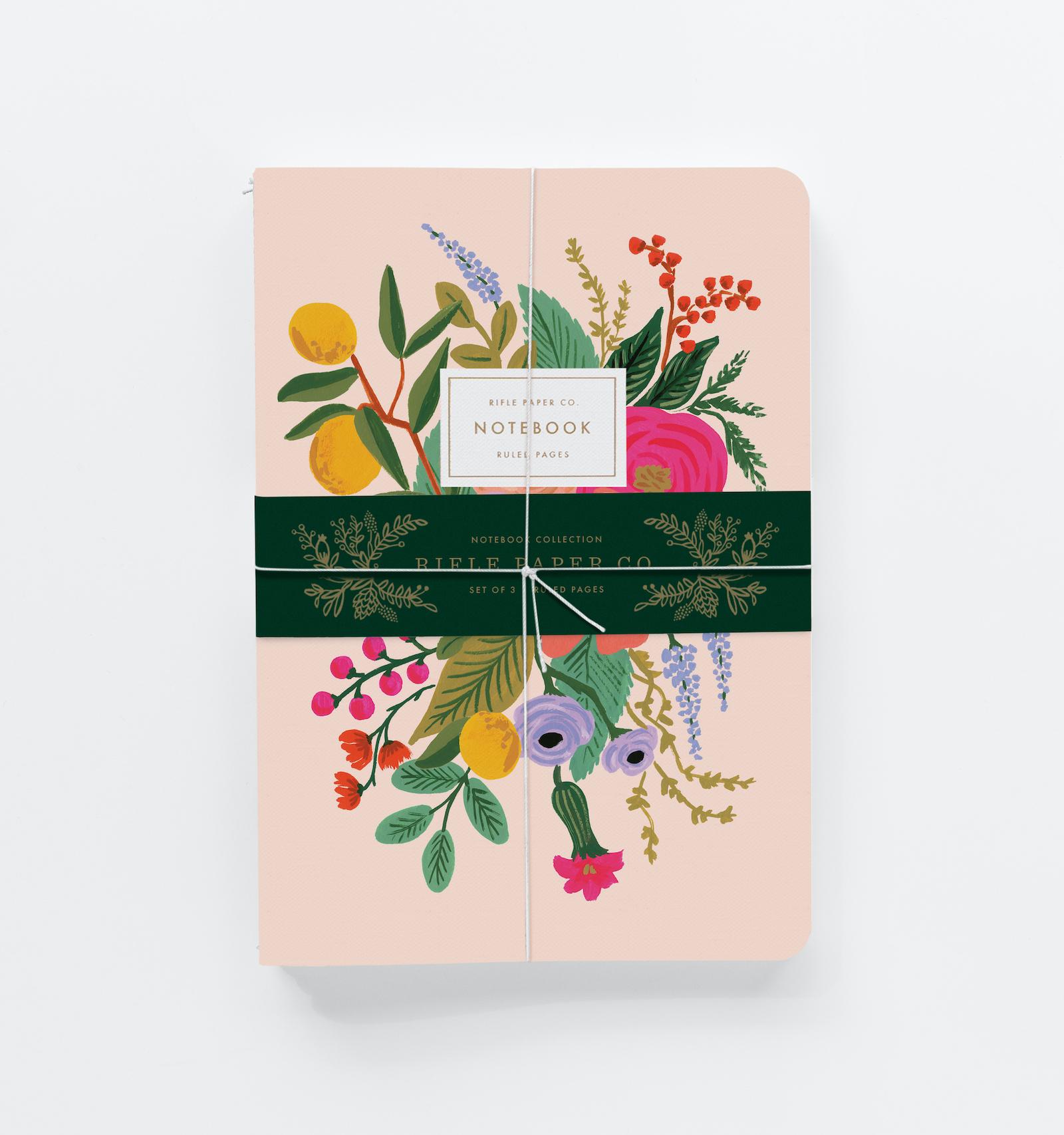 Set de 3 notebooks garden party