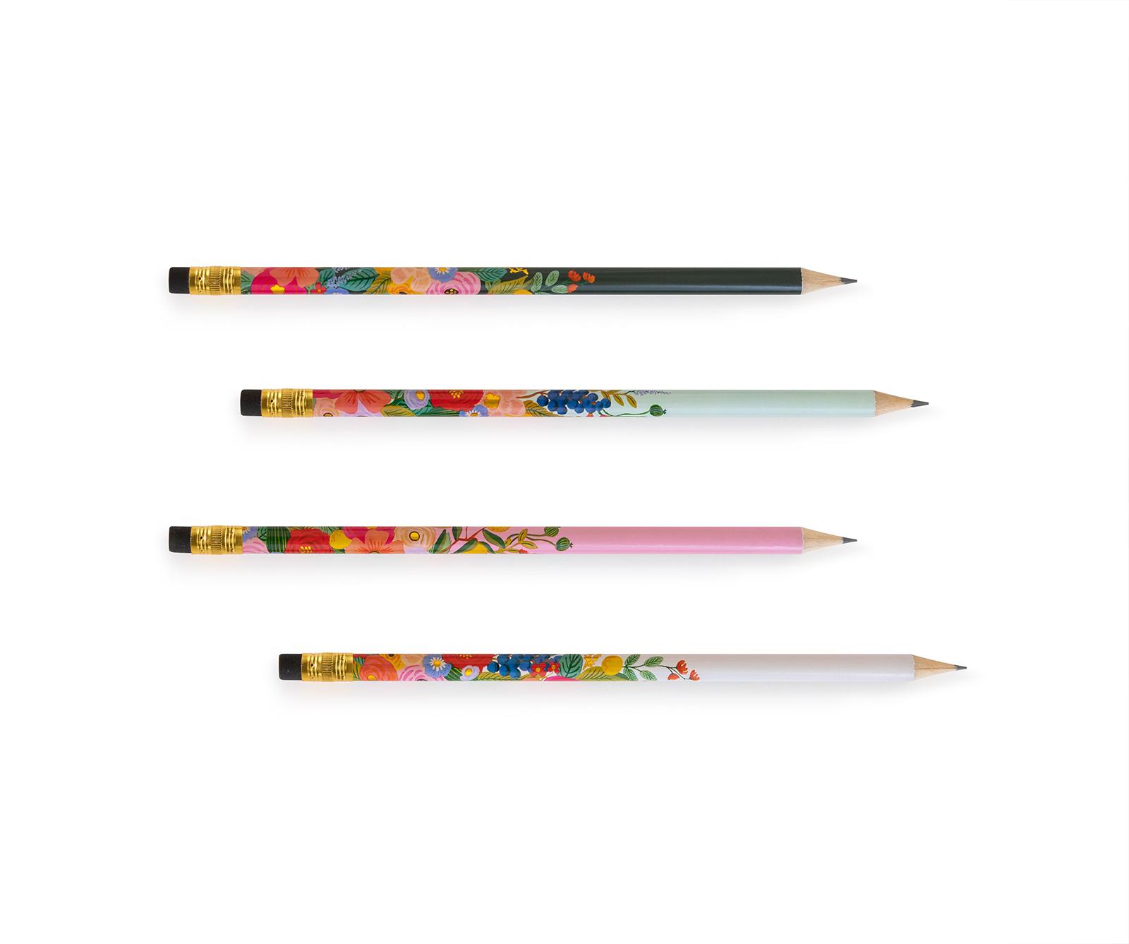 Set 12 crayons papier garden party