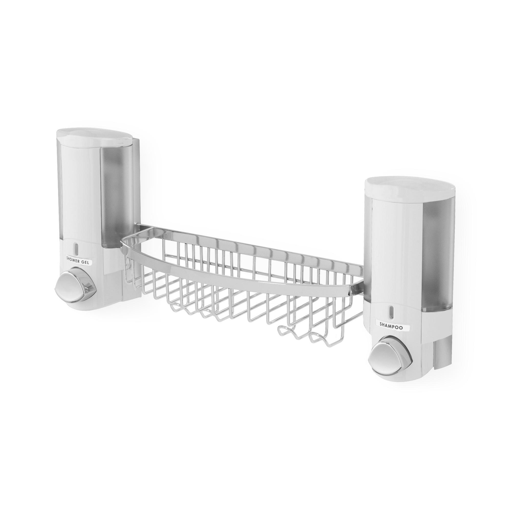 Distributeur de savon double et étagère