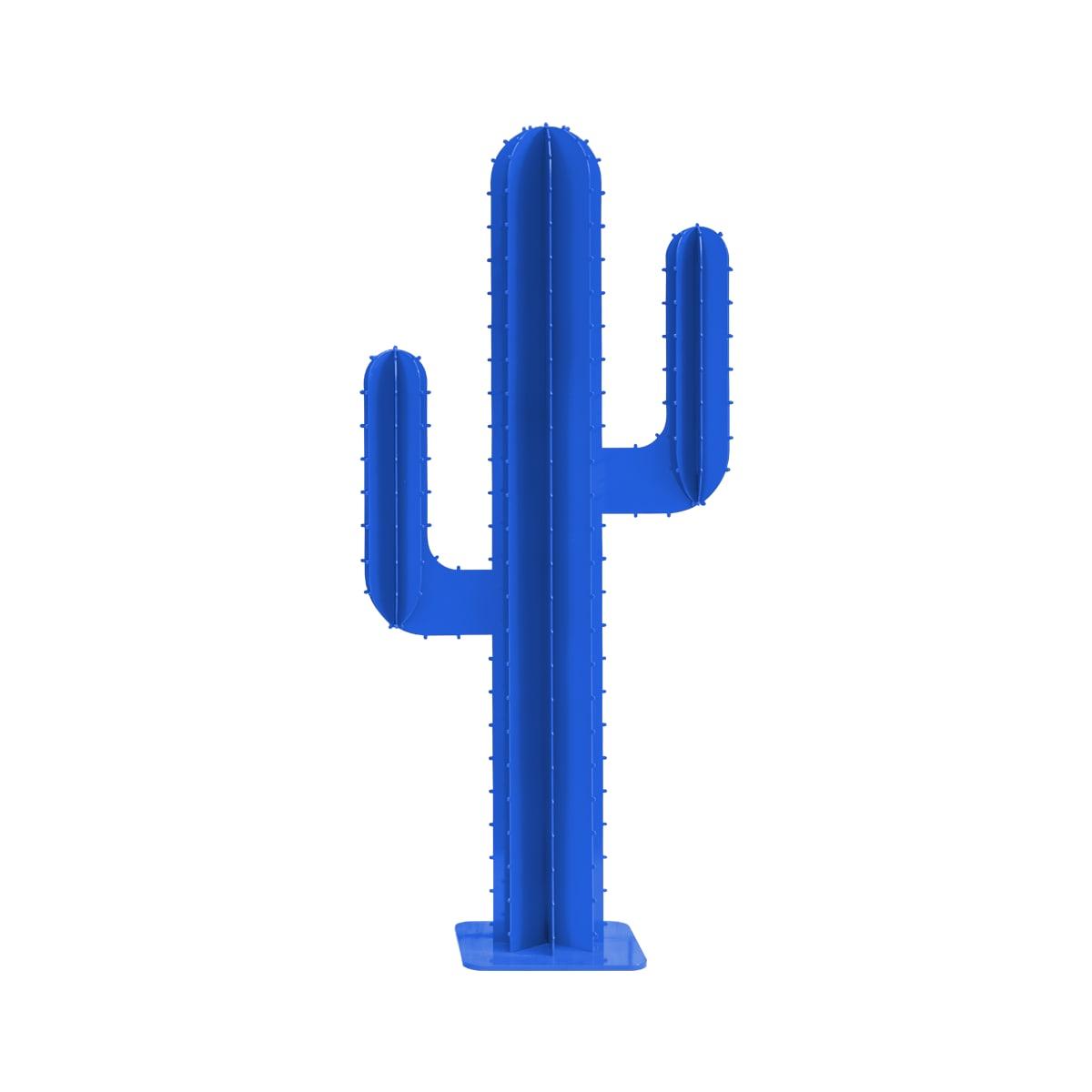 Cactus de jardin 2 branches en aluminium bleu H150cm