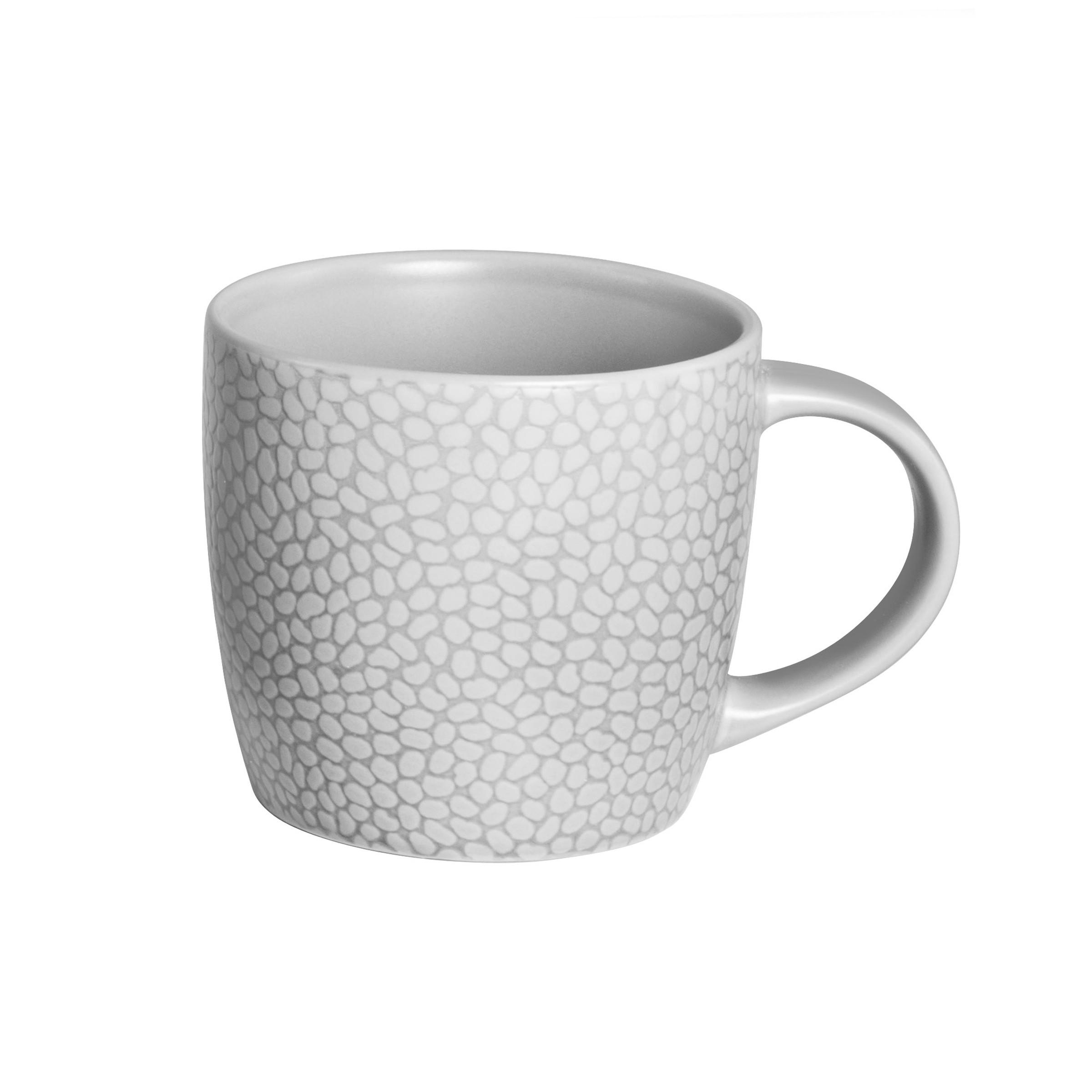 Coffret 6 tasses café & thé gris clair