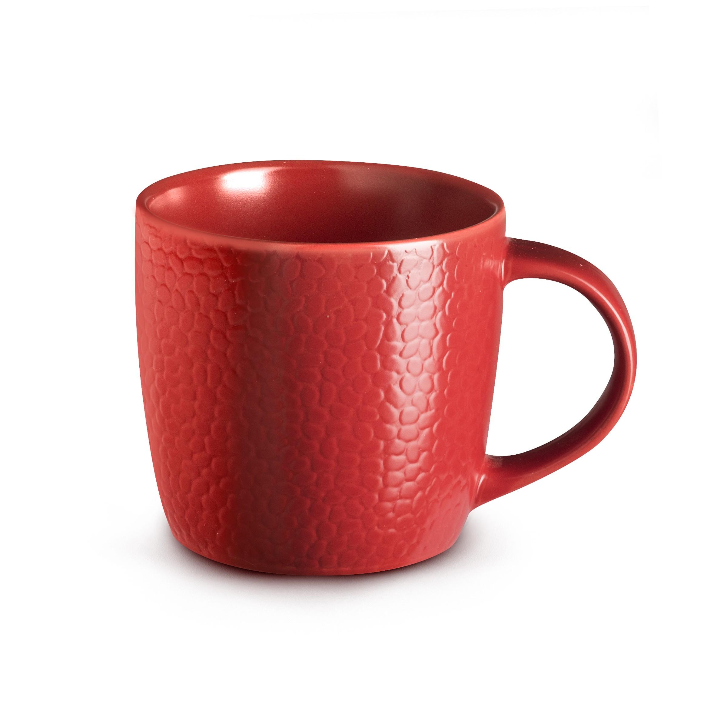 Coffret 6 tasses café & thé rouge