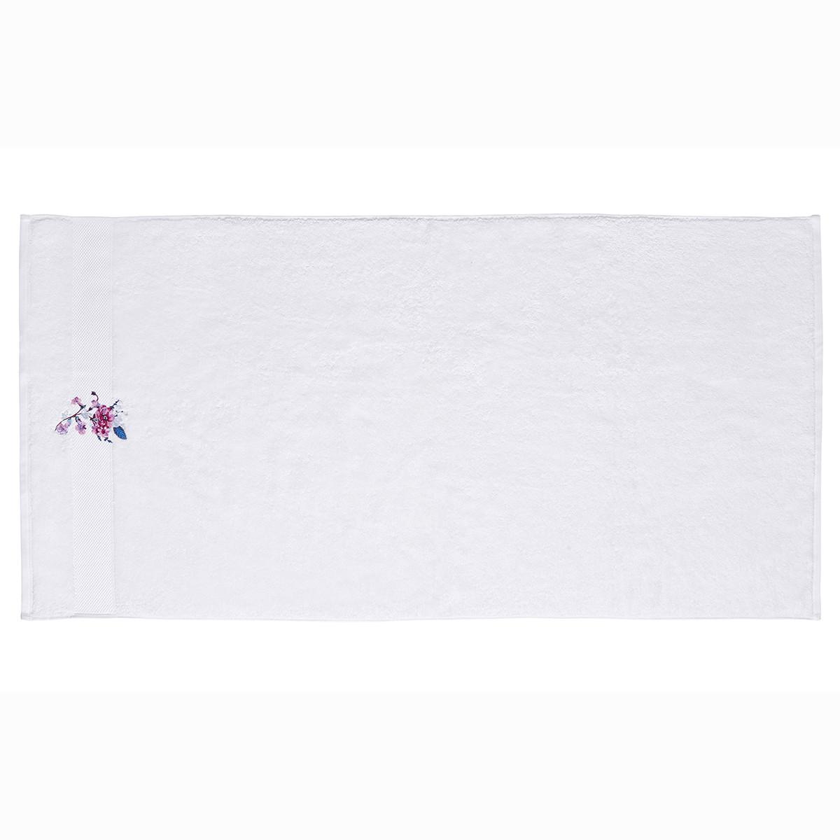 Drap de douche coton 70x140 cm blanc