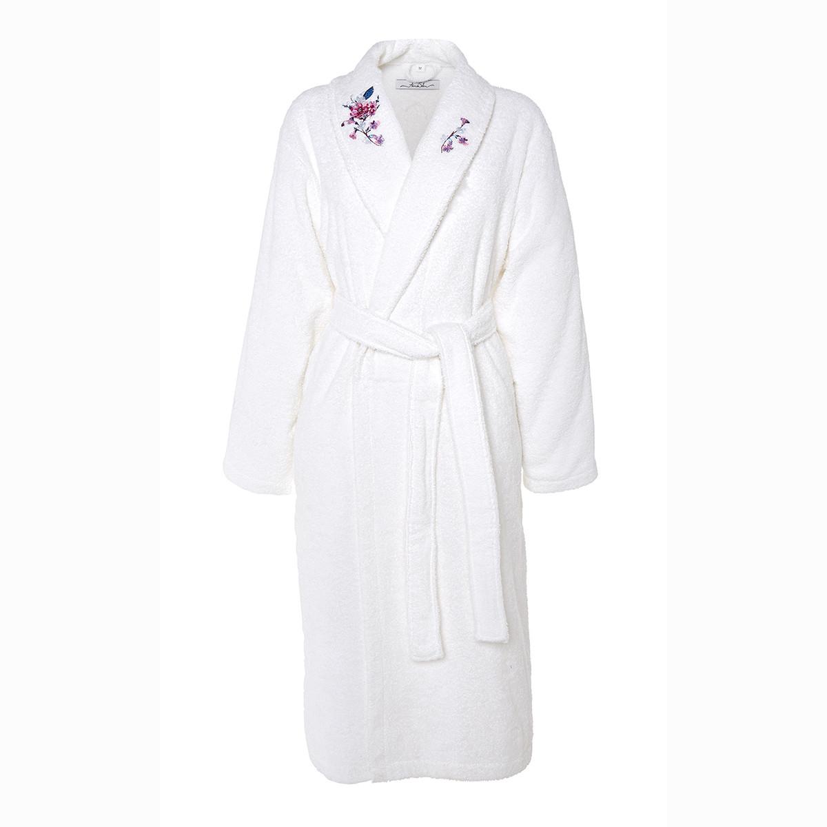 Peignoir coton l blanc
