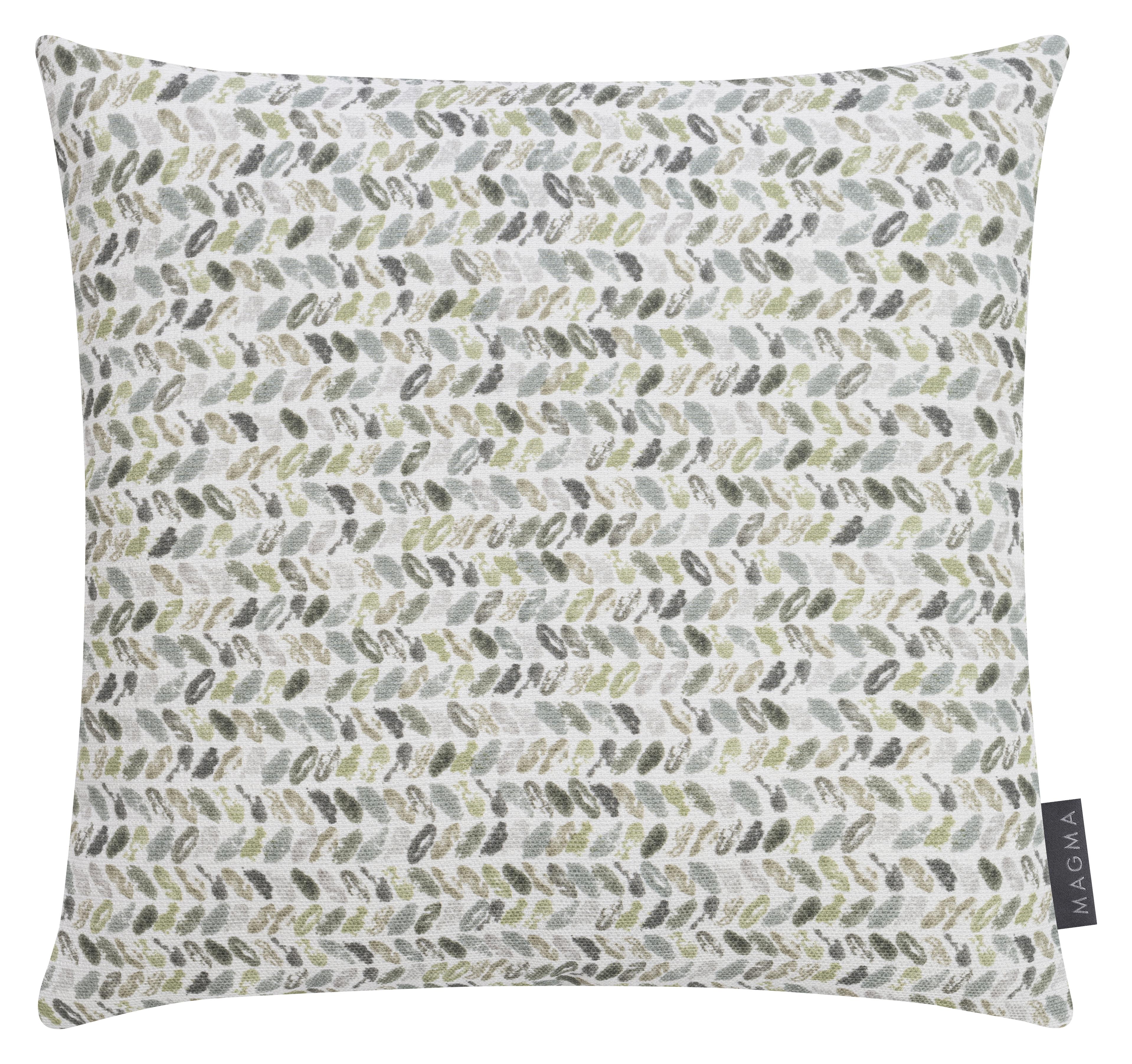 Housses de coussin imprimées motif vert coton 40x40 -Lot de 2