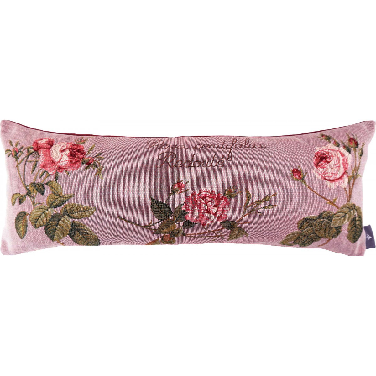Coussin roses de redouté made in france rose 25x60