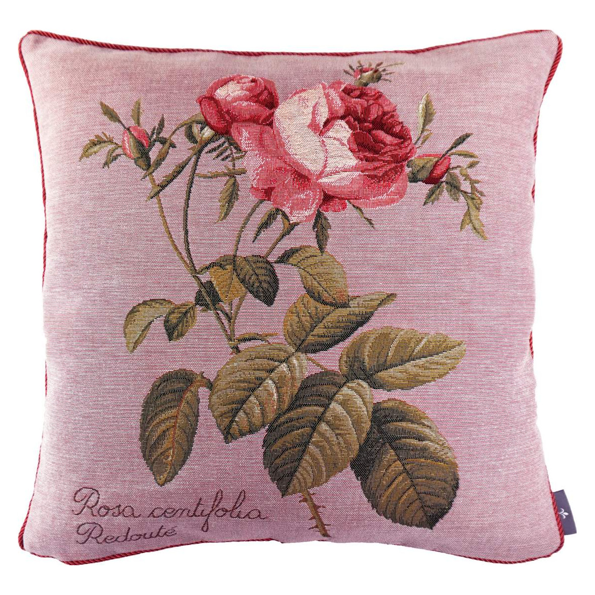 Coussin rose à droite made in france rose   50x50