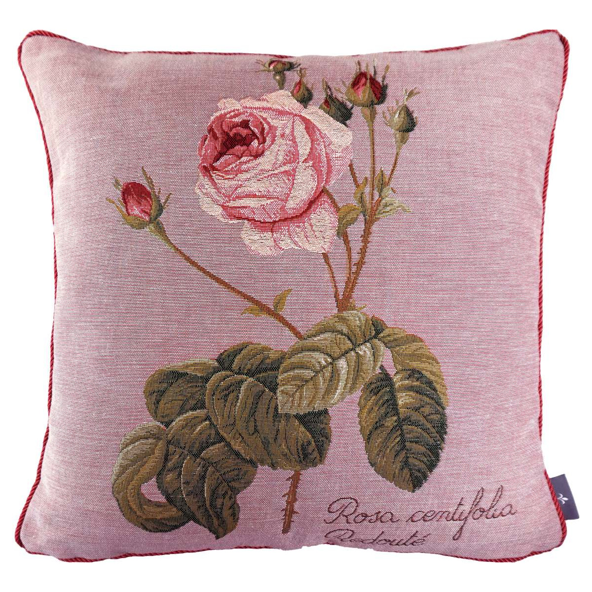 Coussin rose à gauche made in france rose   50x50