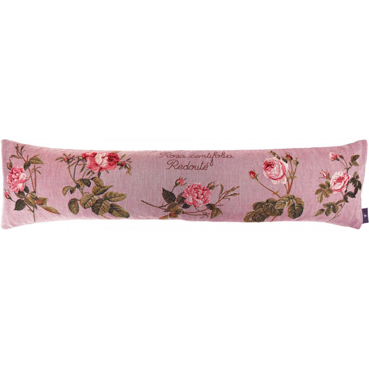 Coussin roses de redouté made in france rose 25x90