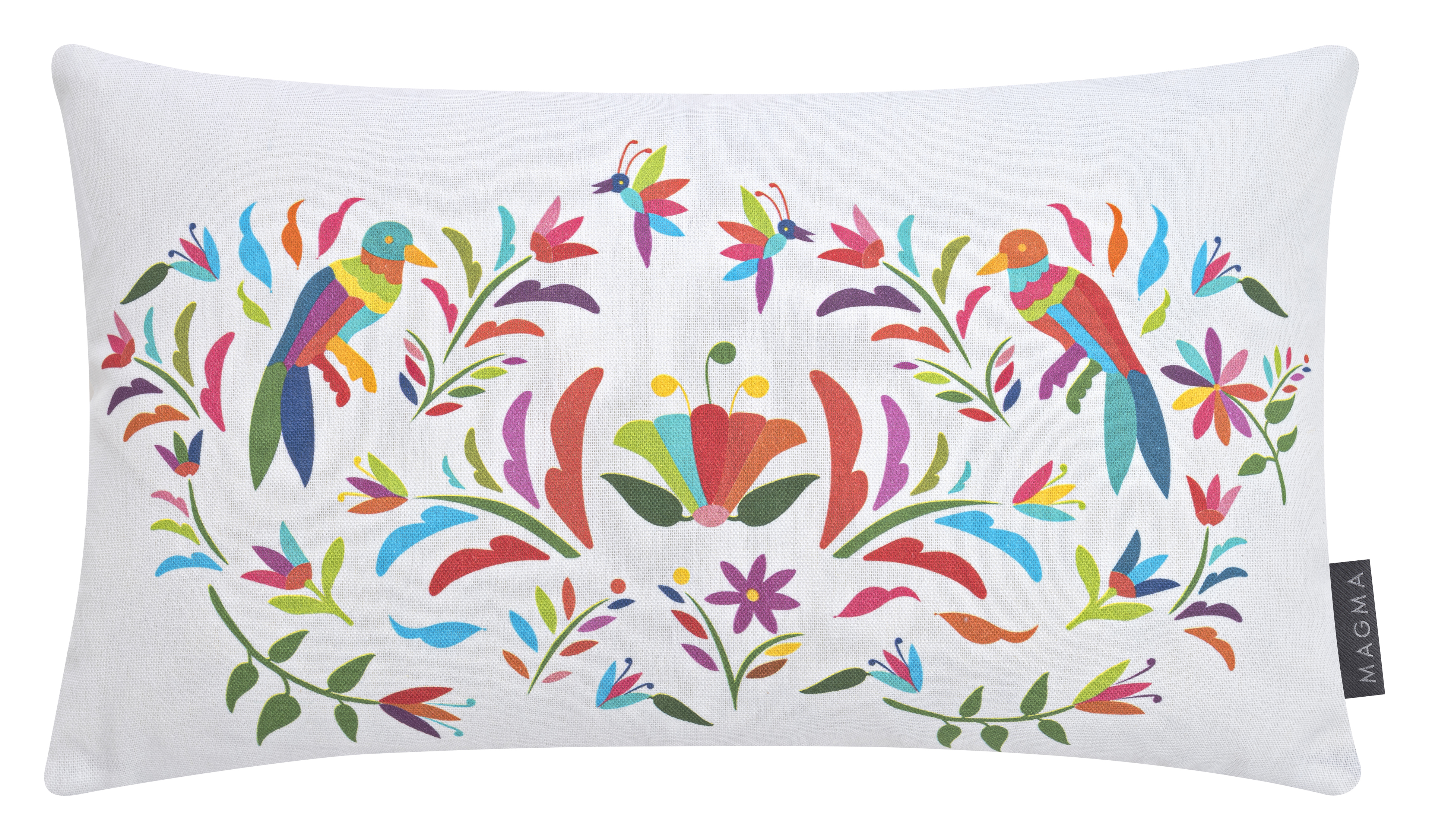 Housses de coussin animaux multicolores coton 50x30 - Lot de 2