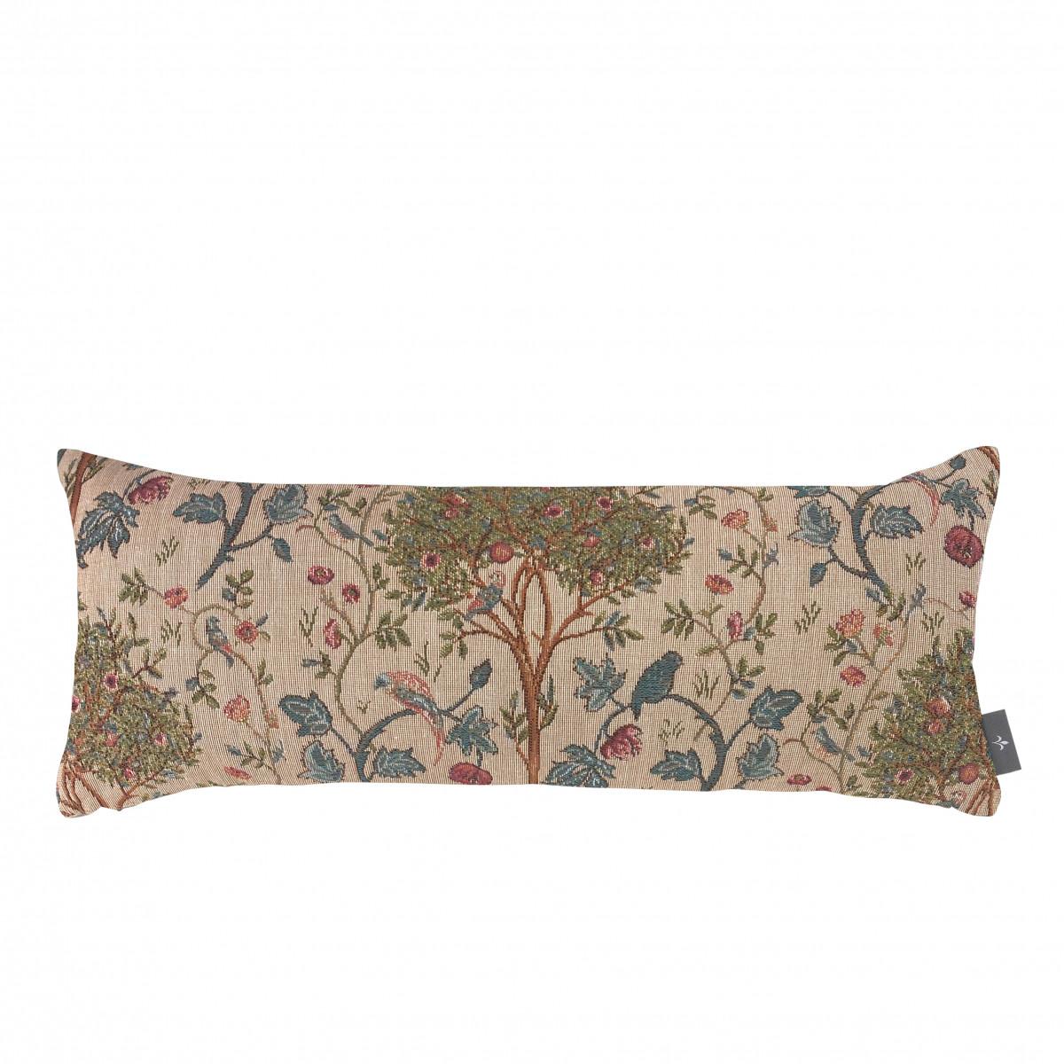 Coussin tapisserie kelmscott tree made in france beige 25x60