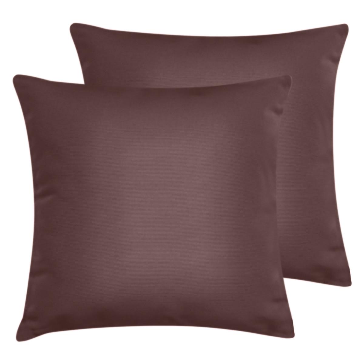 Lot de 2 taies d'oreiller en coton Rose Anglais 65x65 cm