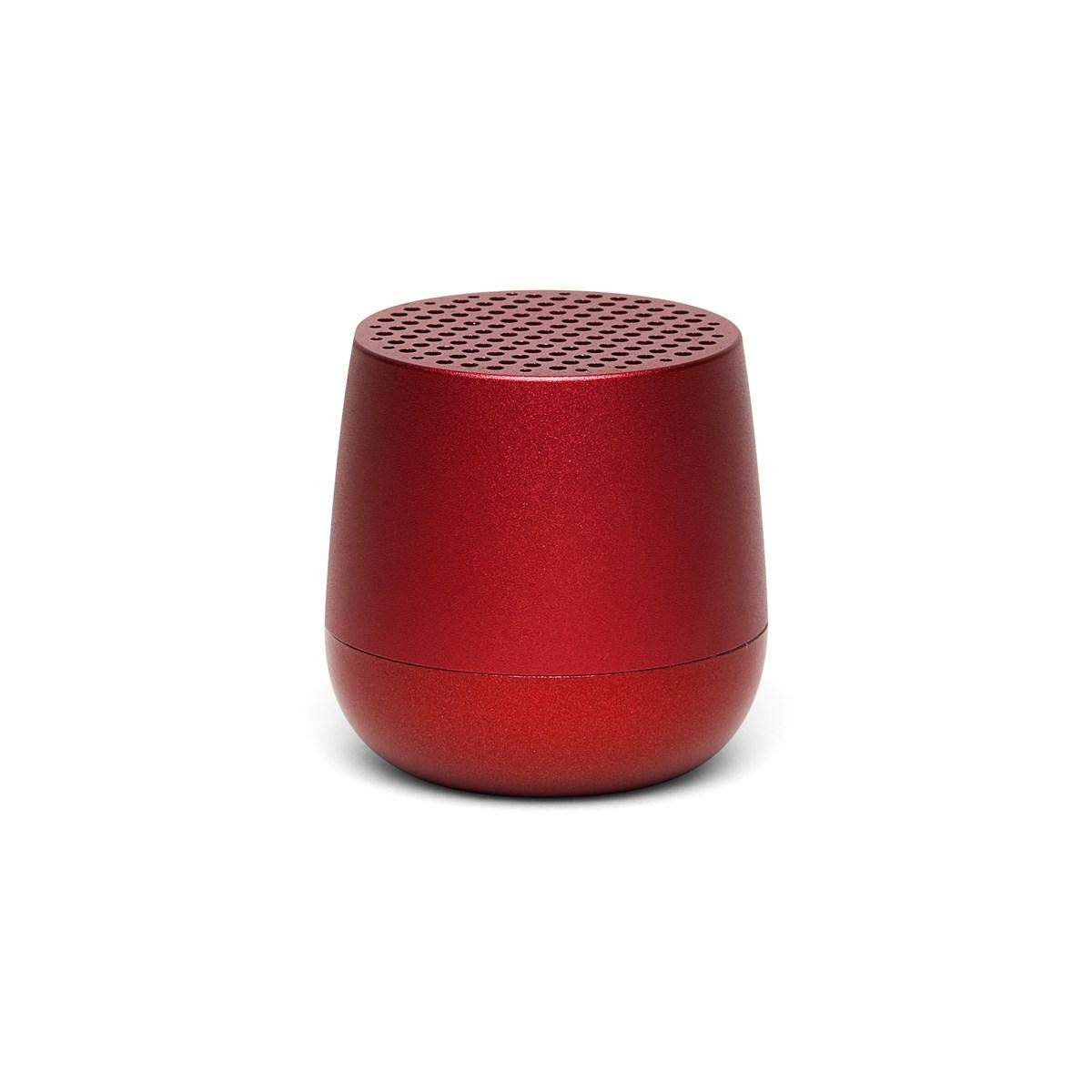 Enceinte bluetooth 3W rechargeable en aluminium rouge