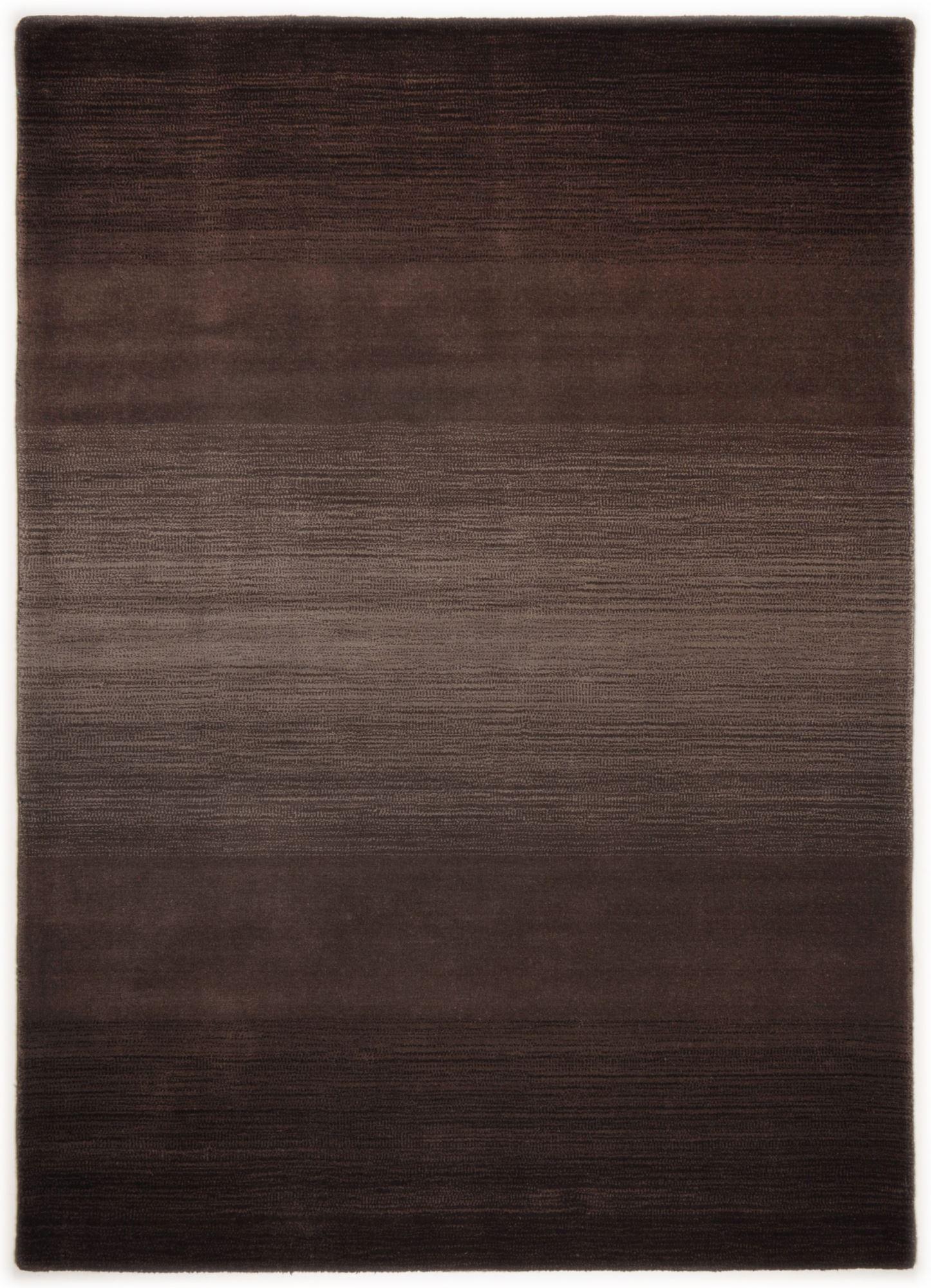 Tapis dégradé de couleur en laine Chocolat 90x160
