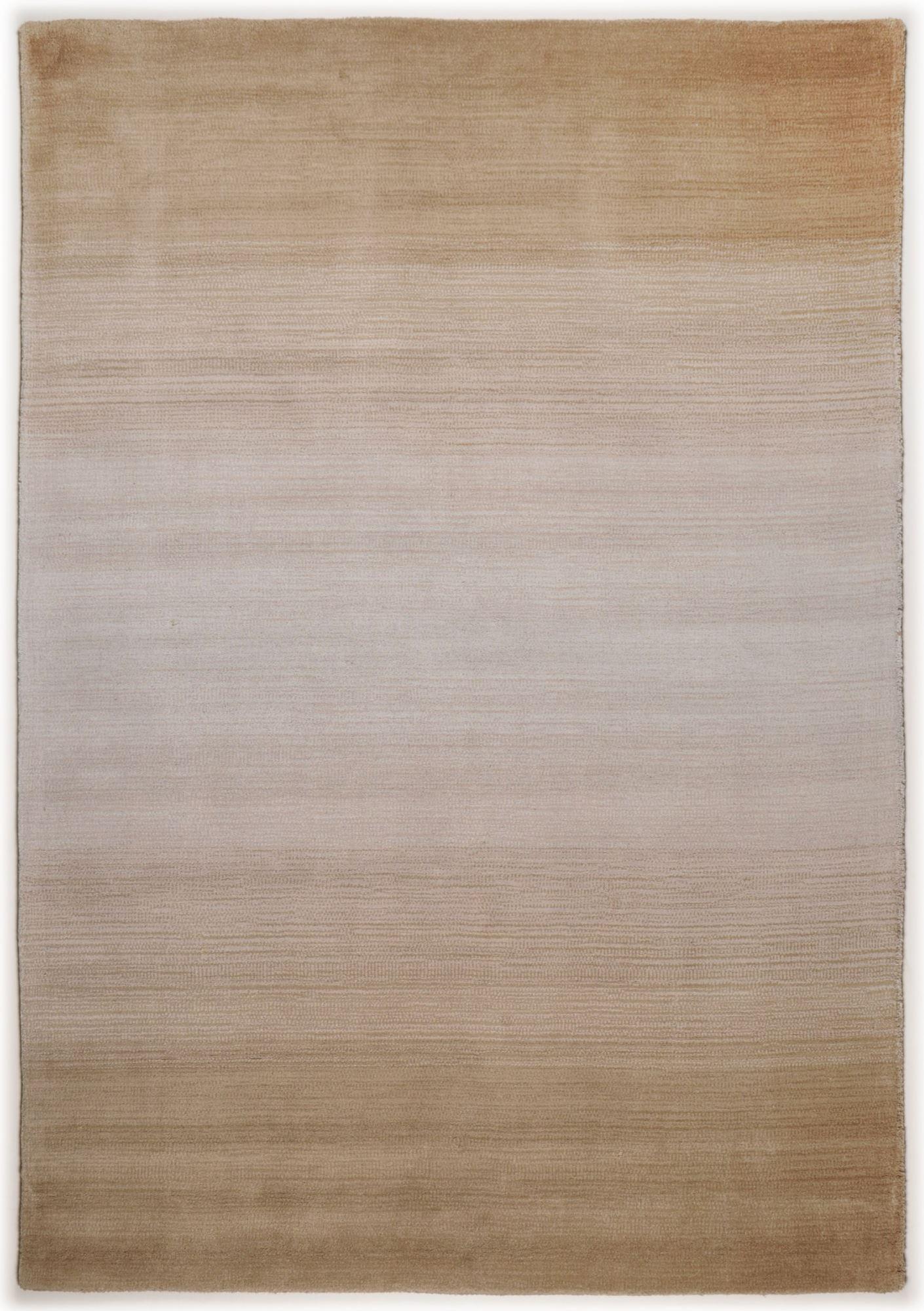Tapis dégradé de couleur en laine Beige 90x160
