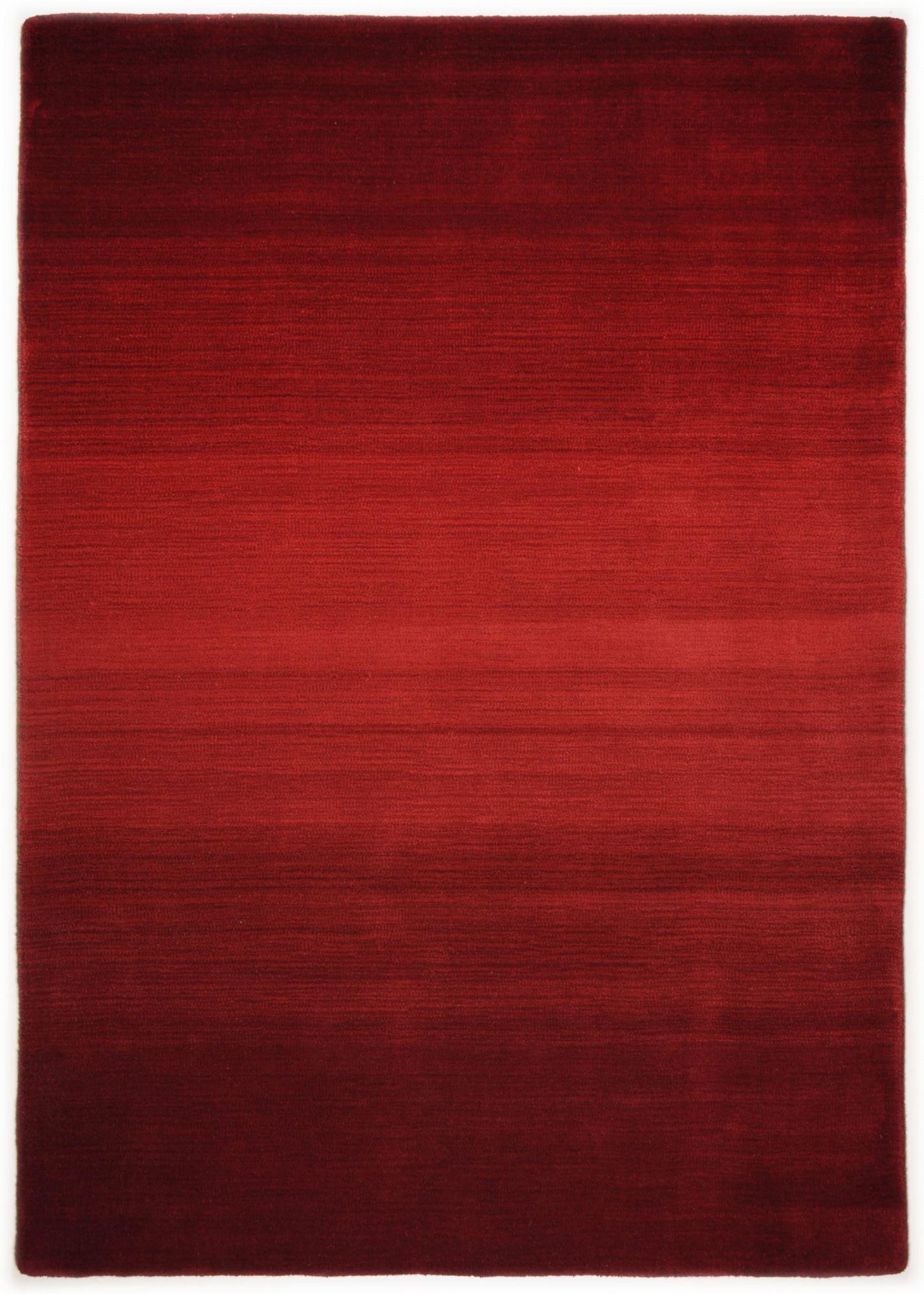Tapis dégradé de couleur en laine Rouge 90x160