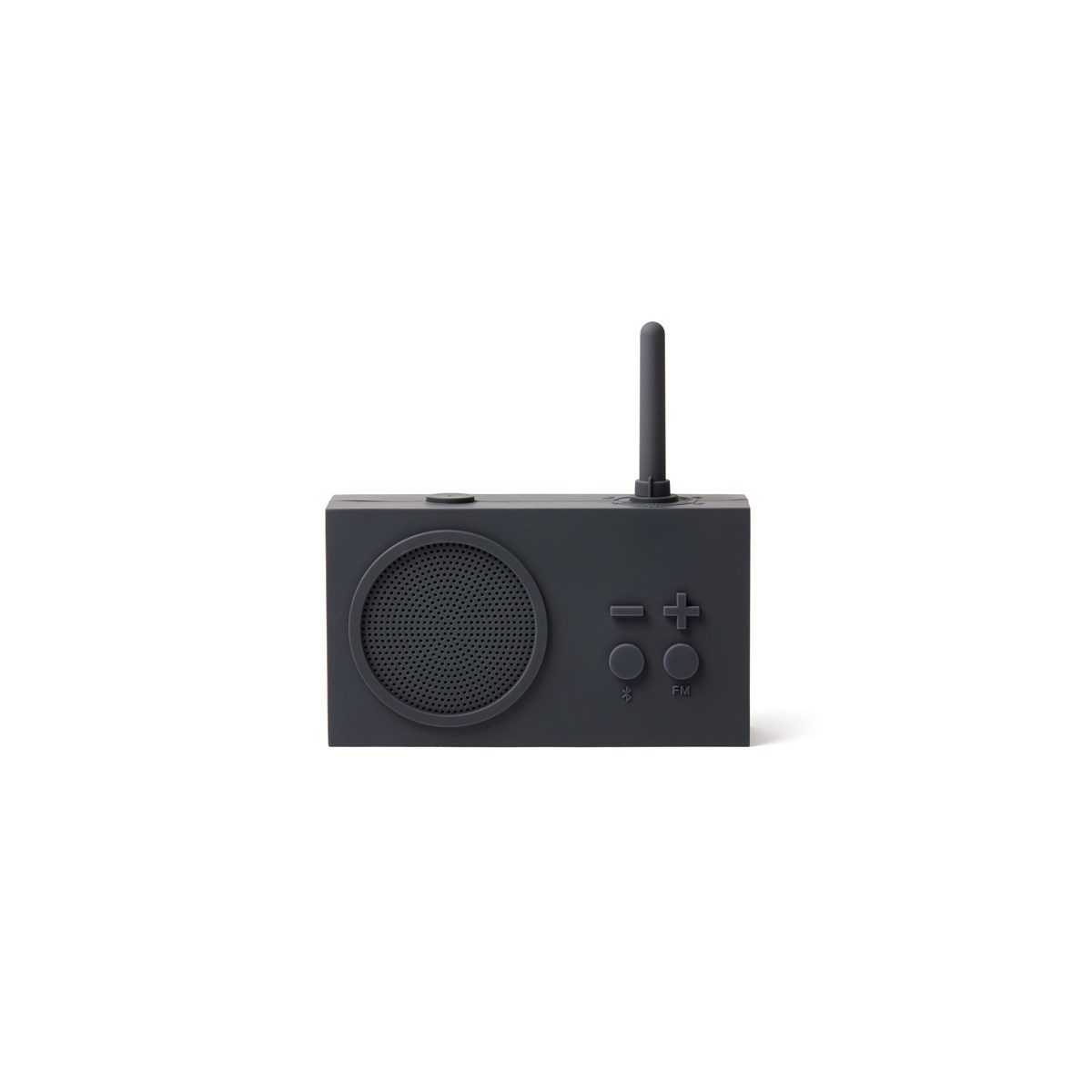 Enceinte Bluetooth et Radio en Gomme Gris anthracite