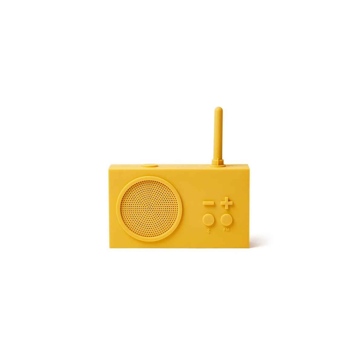 Enceinte Bluetooth et Radio en Gomme Jaune