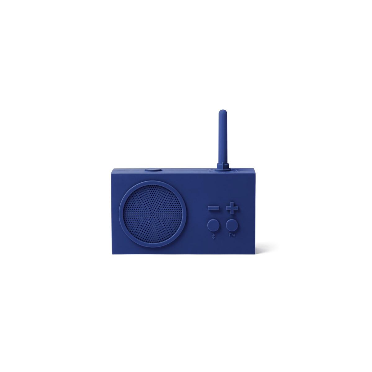 Enceinte Bluetooth et Radio en Gomme Bleu nuit