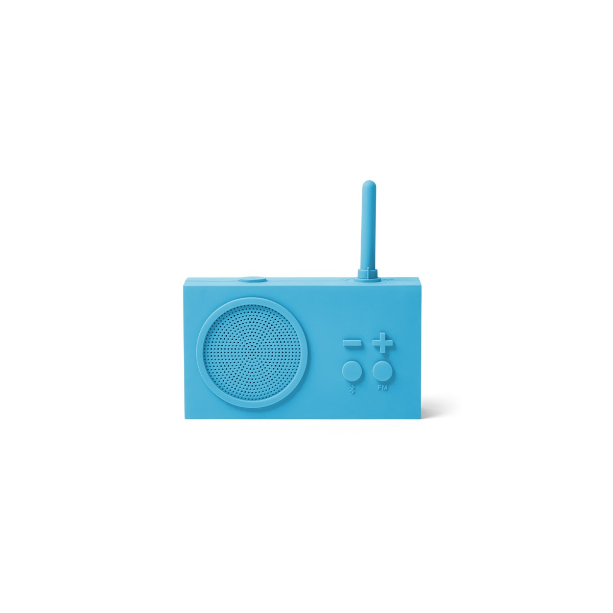 Enceinte Bluetooth et Radio en Gomme Bleu turquoise