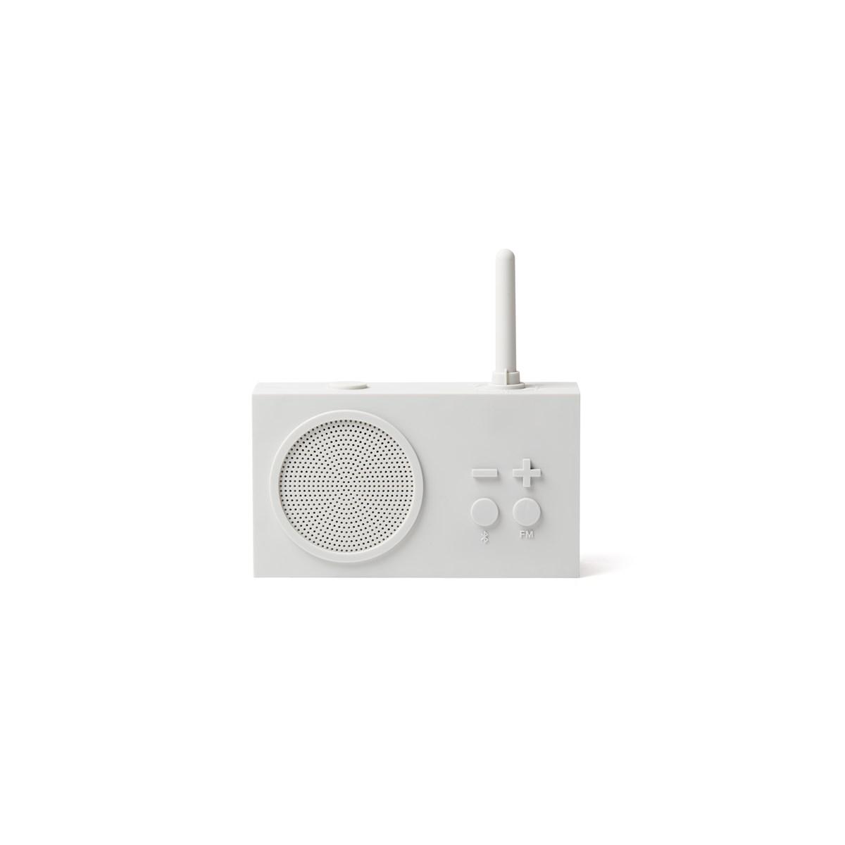 Enceinte Bluetooth et Radio en Gomme Beige clair