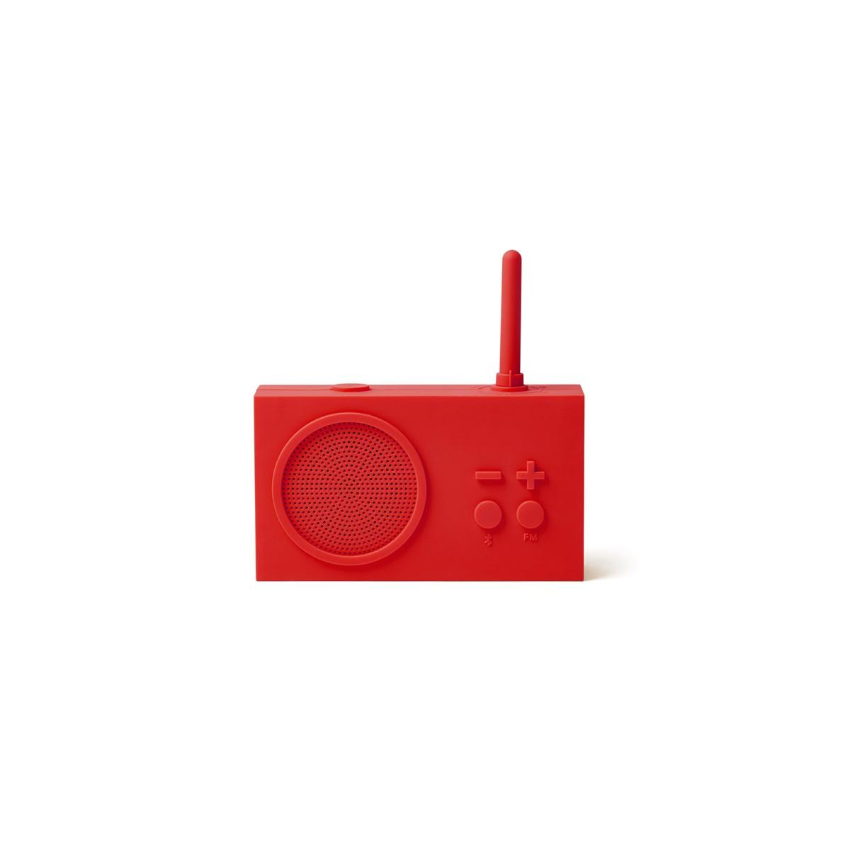 Enceinte Bluetooth et Radio en Gomme Rouge