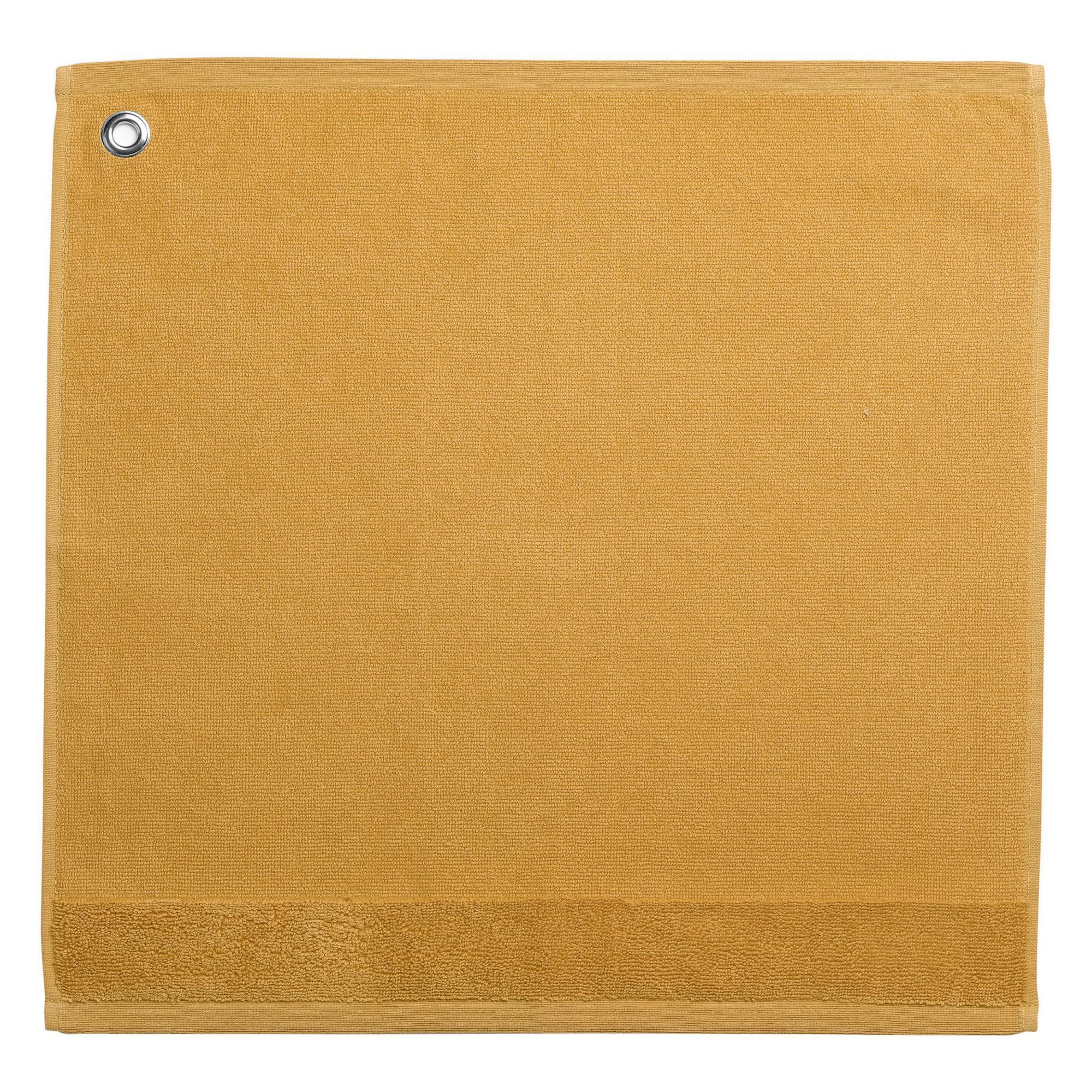 Essuie-mains en coton jaune 50x50