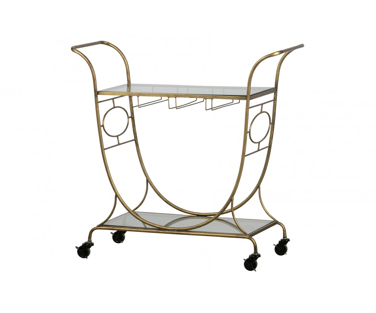 Table d'appoint style chariot vintage