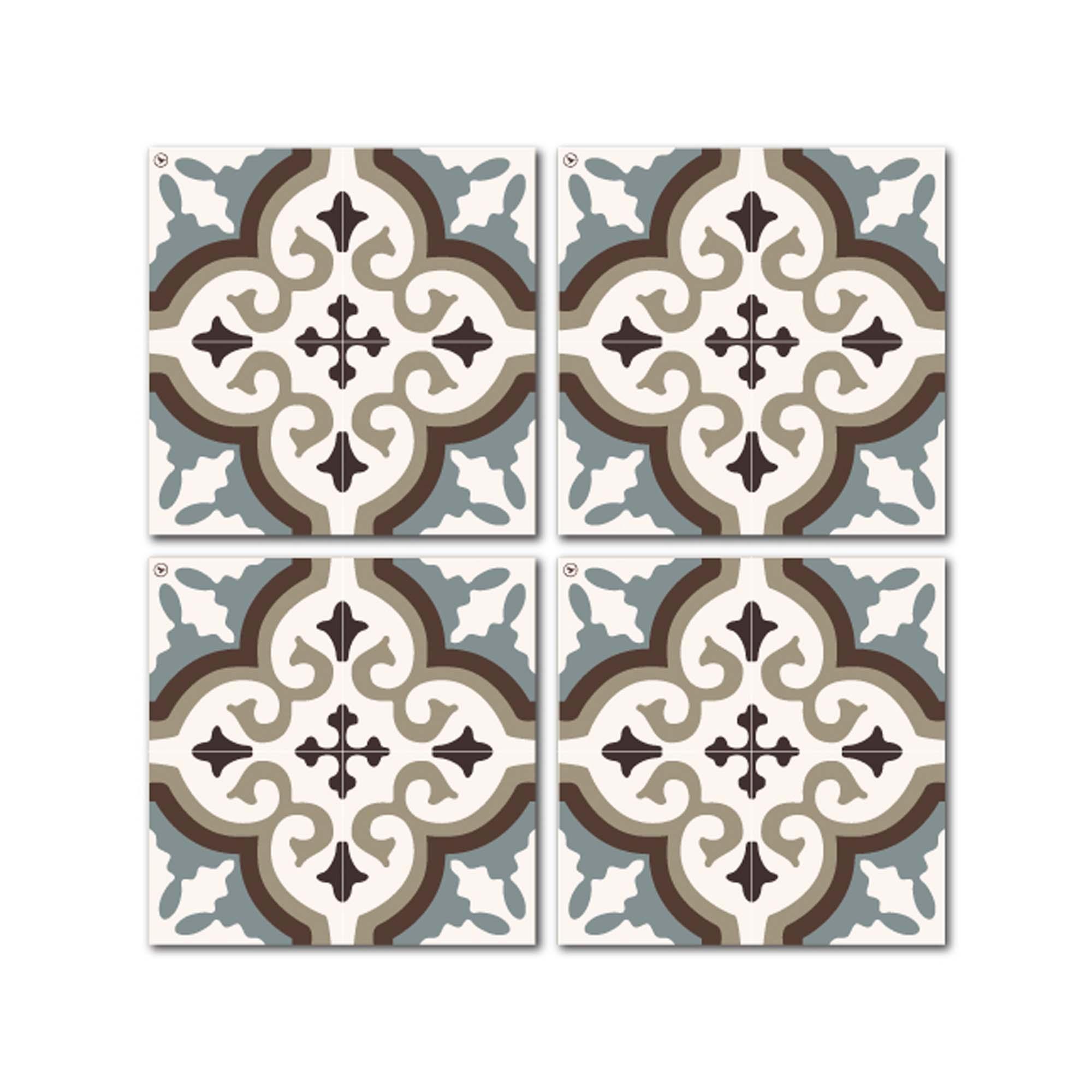 Dessous de verre en mdf noir blanc bleu 10x10