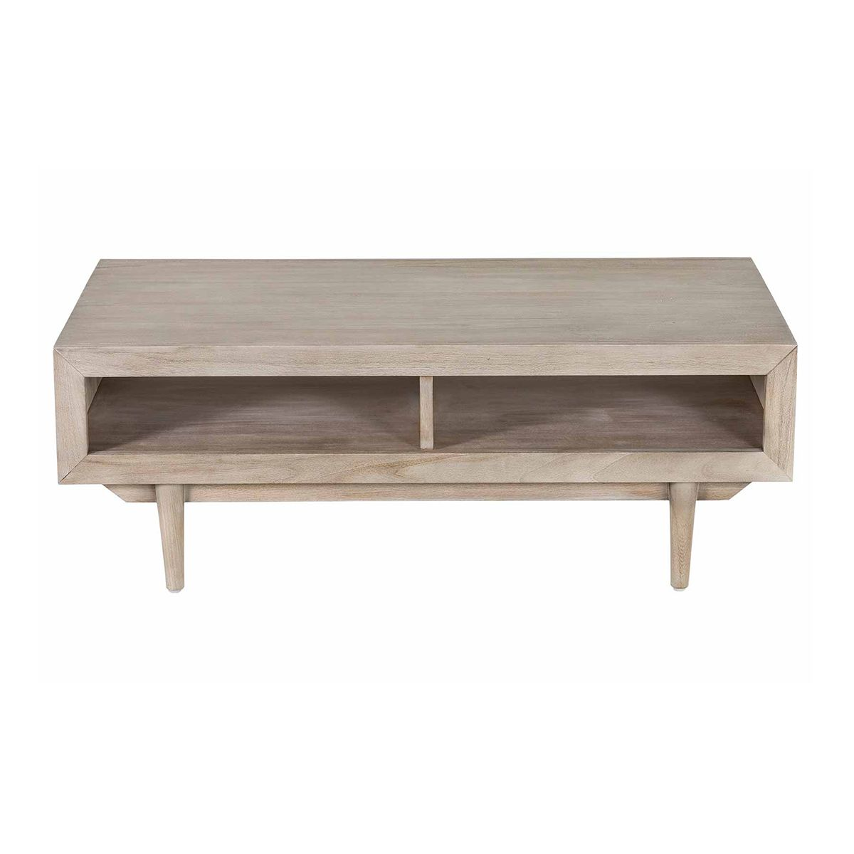 Table basse rectangulaire en teck 120 cm