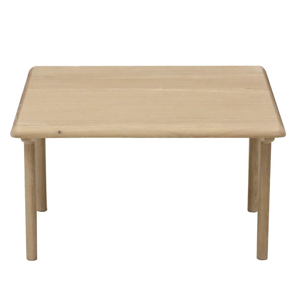 Table basse carrée plaqué chêne