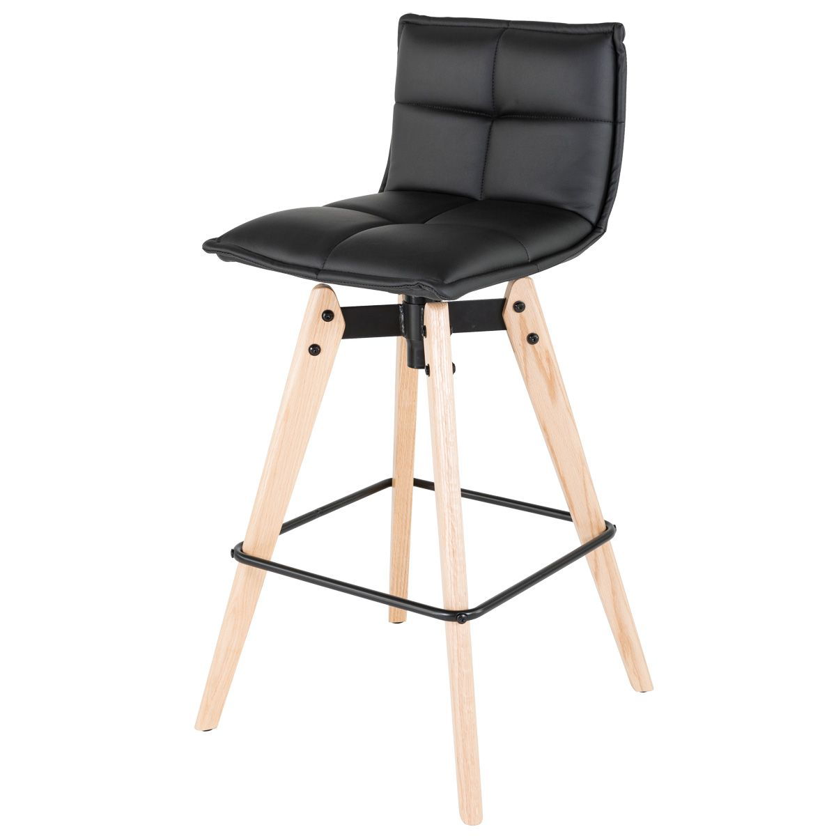 Chaise de bar design  noir