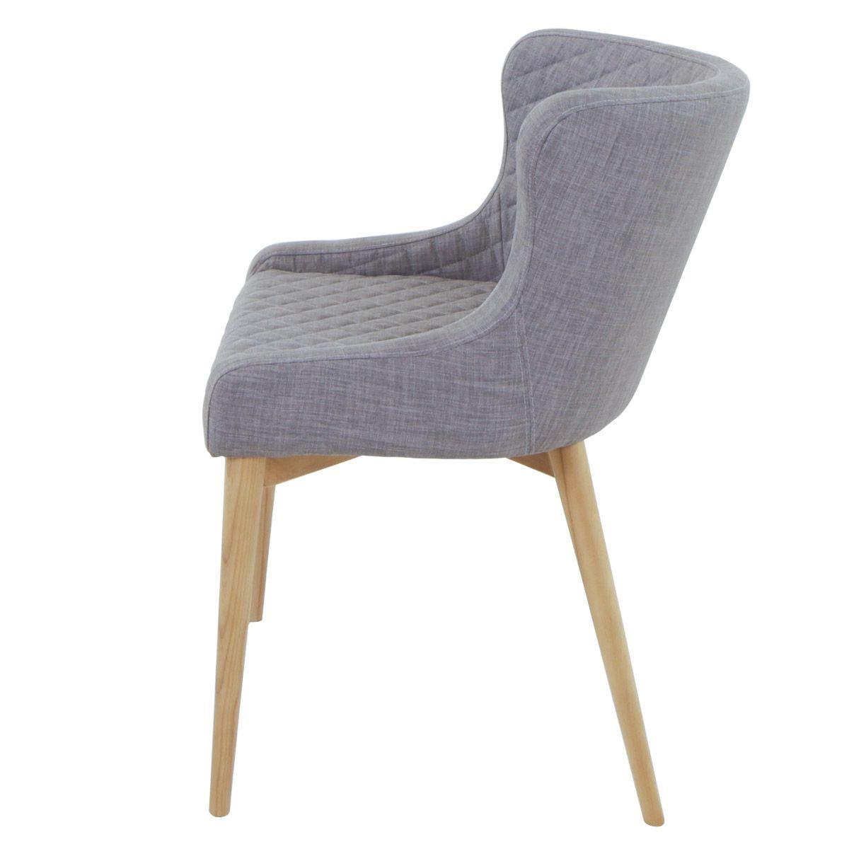 Chaise tissu pieds frêne