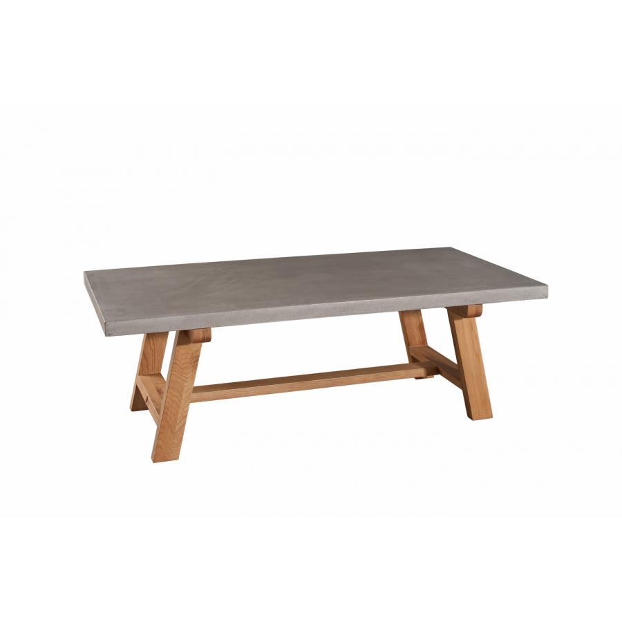 maison du monde Table basse bois et béton