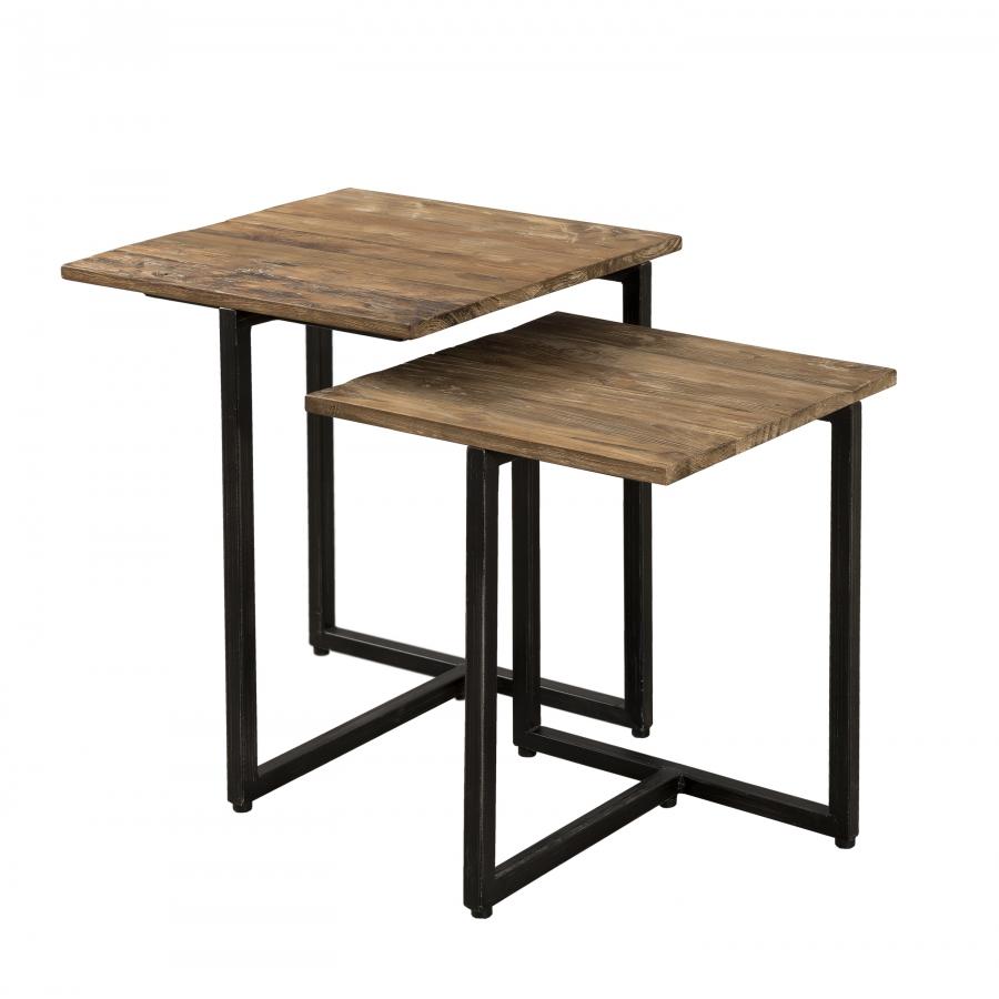 Table gigogne carrée bois