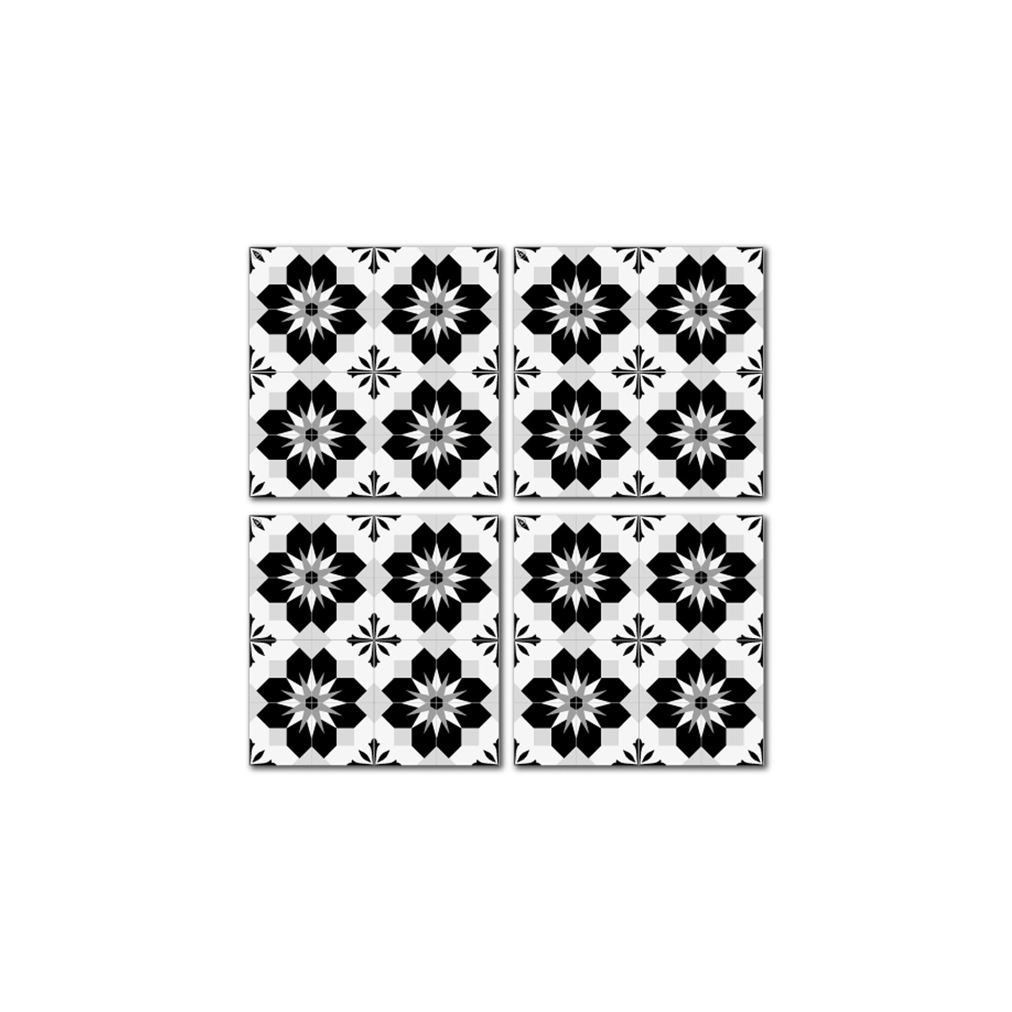 Dessous de verre en mdf noir blanc 10x10