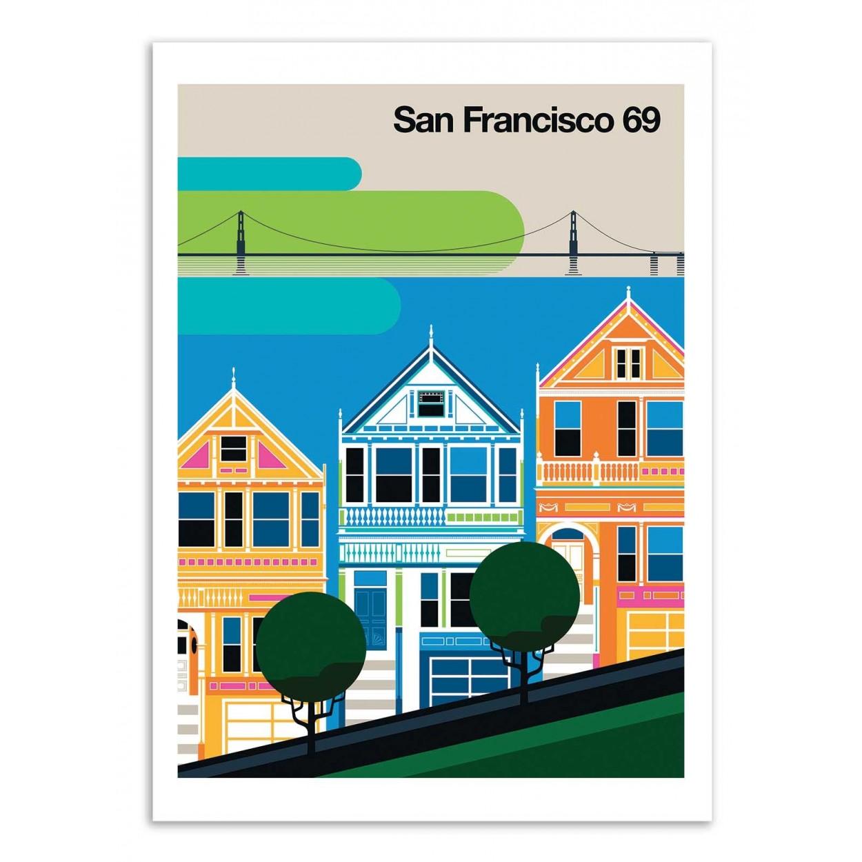 SAN FRANCISCO 69 - Affiche d'art 50 x 70 cm