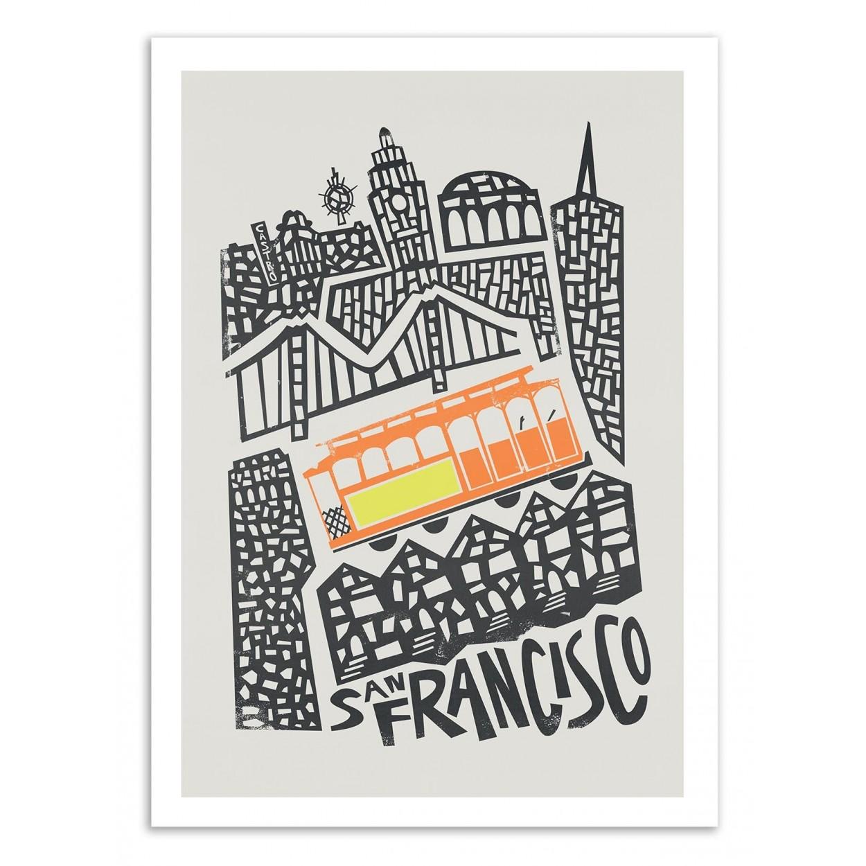 SAN FRANCISCO - Affiche d'art 50 x 70 cm
