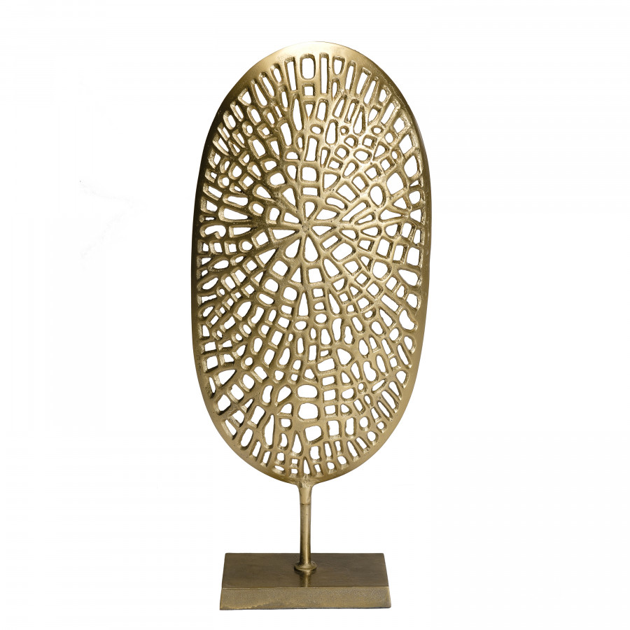 Décoration sculpture aluminium doré