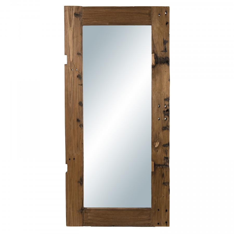 Miroir rectangulaire esprit brocante bois recyclé 80x170