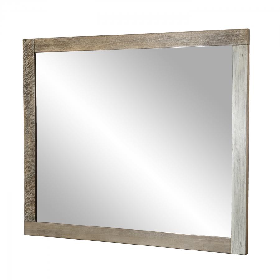 Miroir bois 100x120