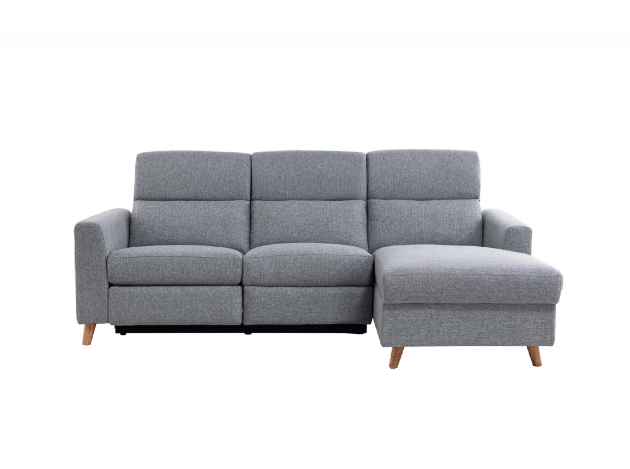 Canapé d'angle 3 places Gris Scandinave Confort