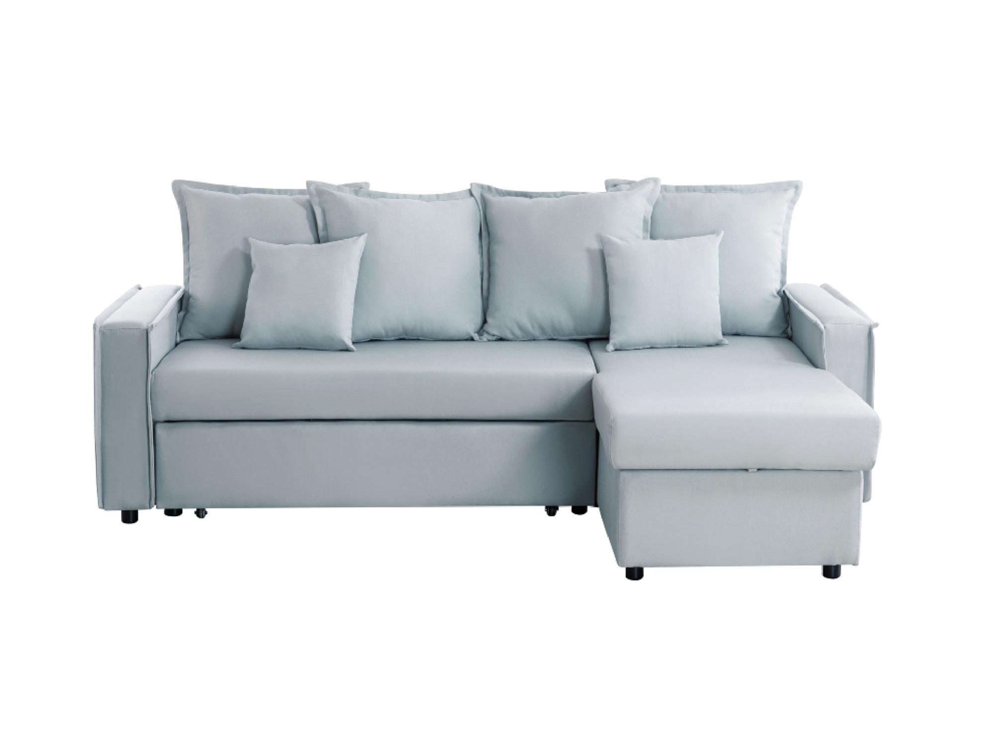 Canapé d'angle Bleu Tissu Moderne Confort