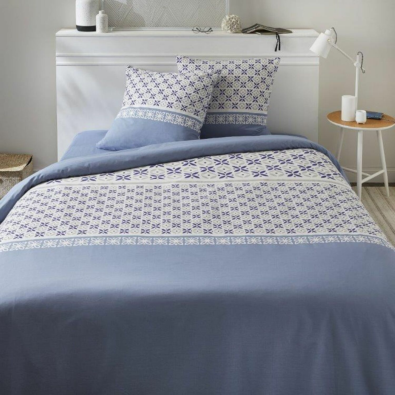 Parure de housse de couette coton blanc 200x200 cm