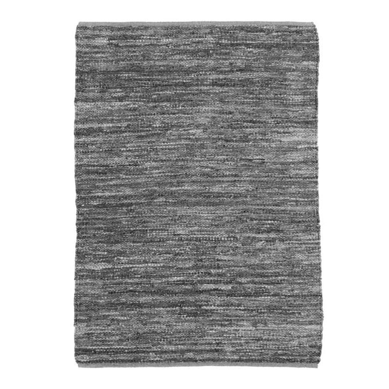 Tapis en cuir tressé gris clair 160x230