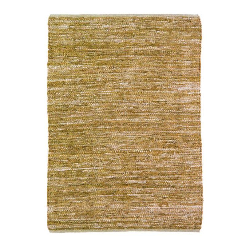 Tapis en cuir tressé ocre 120x170