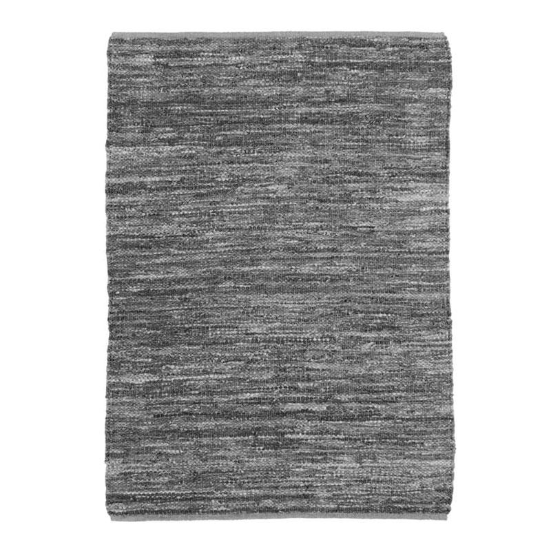 Tapis en cuir tressé gris clair 120x170