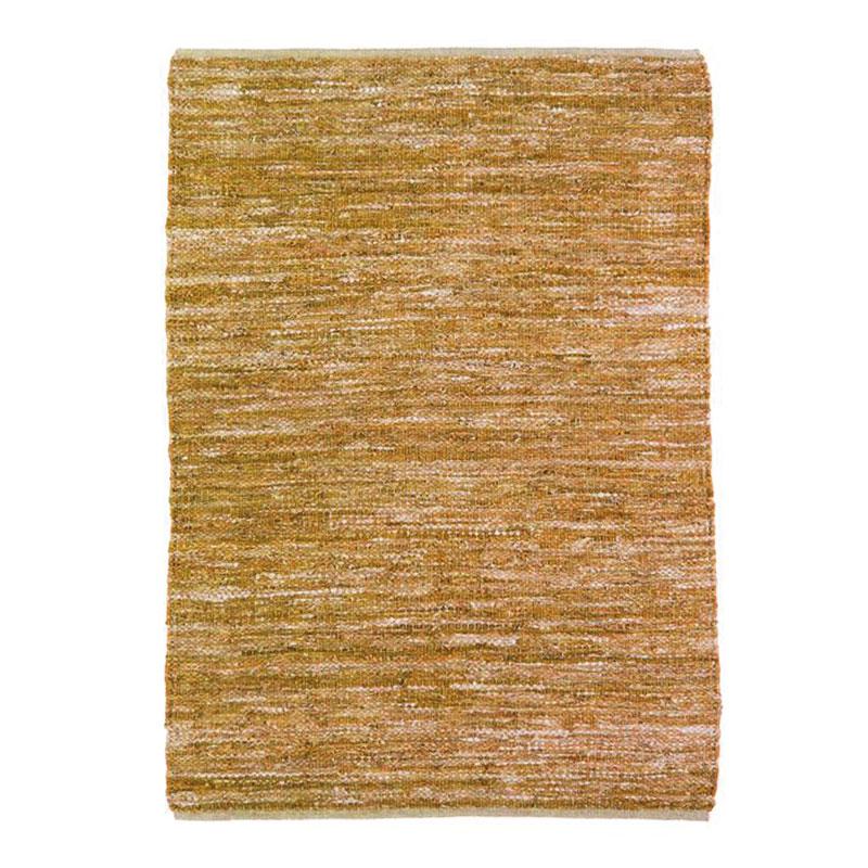 Tapis en cuir tressé jaune 160x230