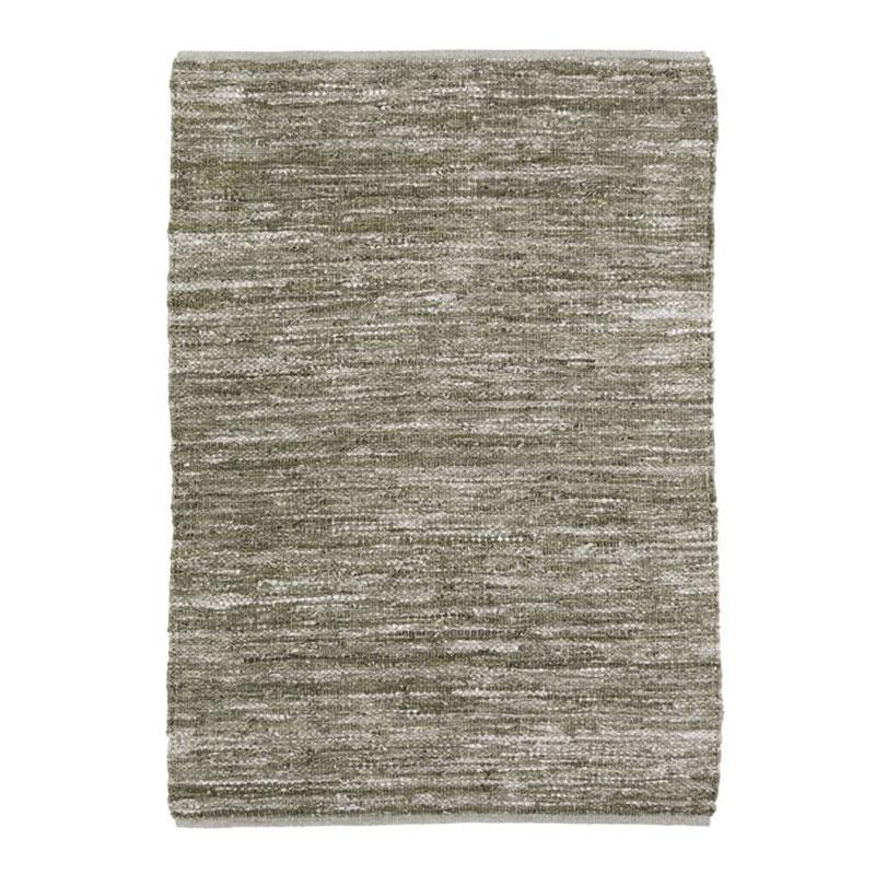 Tapis en cuir tressé beige naturel 120x170